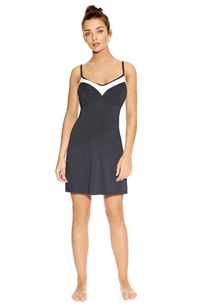 freya chemise pajamas with built in bra